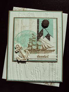 Stampin up masculine card using The Open Sea by Paper Ecstasy