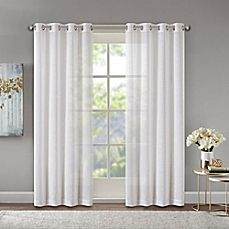 Madison Park Josette Foil Printed Scallop Sheer Curtain Panel x White, Size 50 x 84 (Polyester, Geometric) Window Sheers, Drapes Curtains, Curtain Panels, Coastal Curtains, Coastal Bedding, Coastal Living, Coastal Decor, Coastal Rugs, Modern Coastal