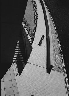 Stanko Abadžic - Bicyclist on Bridge, Berlin