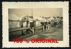 orig. WK2 FOTO - HJ PIMPFE im Zeltlager - Nürnberg 1936 - Waschplatz  - Jugend