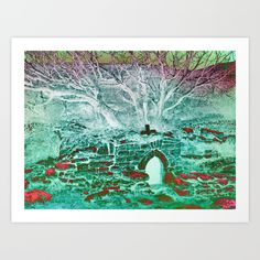 Holy Well Art Print - At Gleninagh Castle, Ballyvaughan, Co. Art Prints, Holi, Starry Night, Wall Art, Nature Color Palette, Painting, Starry, Art, Pictures