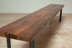 Recycled wood bench at etsy.com