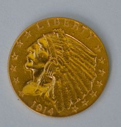 1914D 2.5 Dollar Indian Eagle Gold Coin