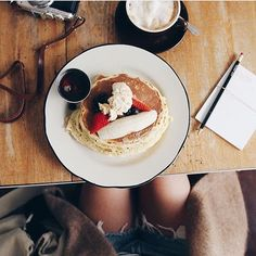 Sunday means brunch #brunch #pancakes #americano