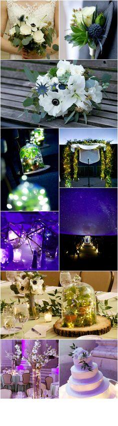 Philadelphia Wedding Florist - A Garden Party Florist - The Franklin Institute - Langdon Photography - planetarium wedding - terrariums - fairy lights