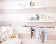 nursery-baby-boy-suspended-branch-diy-clothes-rack-floating-shelves