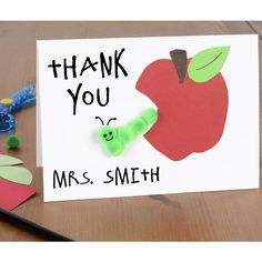 Thank you cards for kids to make for teachers - easy kids crafts - cardmaking for kids