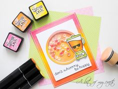 A bit of my crafts: Distress Ink blended background - Shaker card feat...