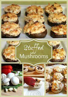 Stuffed Mushrooms - Impress Your Guests @SoberJulie.com #Recipe #Appetizer #StuffedMushrooms