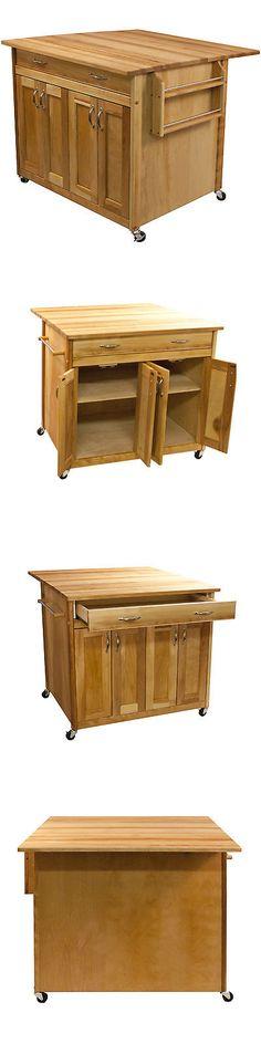 Kitchen Islands Kitchen Carts 115753 John Boos Pca1 18 X 18 Boos Entrancing Kitchen Cart With Drop Leaf Design Ideas