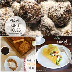 Healthier Thanksgiving Recipe Round Up #thanksgiving #recipe #roundup #healthier #breakfast #brunch