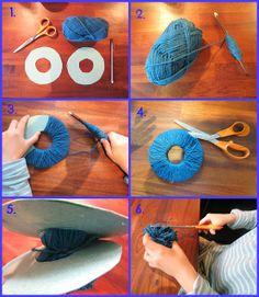 Tupsun tekeminen Crochet Necklace, Crochet Hats, Diy, Knitting Hats, Bricolage, Do It Yourself, Homemade, Diys, Crafting