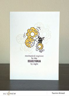 Stamp Making Card Fathers Day Cards Masculine Altenew Elegant Designs Clear Stamps Engineers Birthday