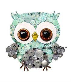 Encuentra los productos para elaborar esta tarjeta en www.muristar.com, o bien a través de nuestra APP en Google Play, puedes ver los productos y precios desde la comodidad. Teléfono 60469232. Ideas manualidad hazlo tu mismo hecho en casa DIY decoración manualidad tarjeta boton Owl Nursery, Nursery Crafts, Owl Crafts, Crafts For Kids, Owl Art, Owl Wall Art, Cute Owl, Jewelry Art, Jewelry Crafts