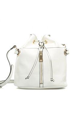 White bucket bag//