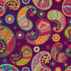 Find Indian Paisley Pattern Colorful Vector Indonesian stock images in HD and millions of other royalty-free stock photos, illustrations and vectors in the Shutterstock collection. Thousands of new, high-quality pictures added every day. Paisley Art, Paisley Design, Paisley Pattern, Pattern Art, Cool Patterns, Flower Patterns, Print Patterns, Rajasthani Art, Islamic Art Pattern