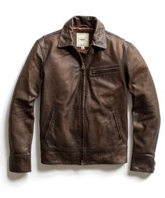 Todd Snyder Brown Dean Leather Jacket. NYC.