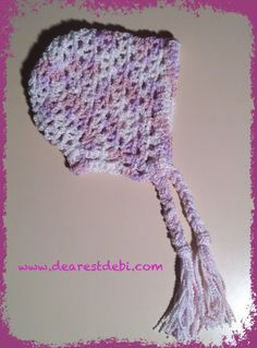 free pattern. Crochet Preemie Bonnet - Free Crochet Pattern by DearestDebi