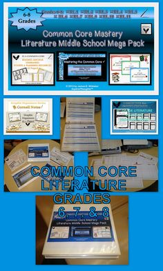 My Middle School Common Core Literature Mega Bundle Binder is the Perfect Resource for any ELA Teacher that teaches multiple Middle School Grades. This is a great addition to any Common Core Based curriculum--9 Products in 1!