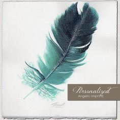 Personalized feather created specifically for you—or a loved one. Receive an original piece of art for $48.88