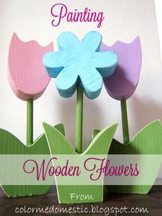 Some Pop for HBs Room: Let her paint some wooden flowers :)