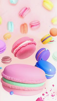 Macaroons anyone? Sweet dessert time for midweek right after the holidays. Christmas time sweets to get ready for the New years. Pink and colorful sweets.