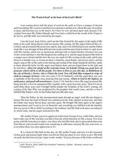 - The Word of God at the feast of the Lord's Birth Feasts Of The Lord, New Jerusalem, Word Of God, Romania, Author, Sayings, Words, Lyrics, Writers