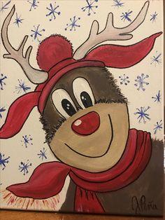Crazy reindeer by Jackie Pena