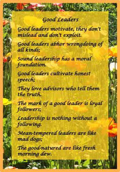 #Leadership #quotes from #Proverbs from out of The Message