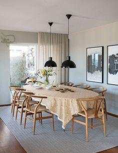 Det finns en IKEA-produkt i varje rum i det här huset & kan du se dem? Feng Shui, Ikea, Dining Table, Interior Design, Bedroom, Furniture, Home Decor, Urban, Nest Design