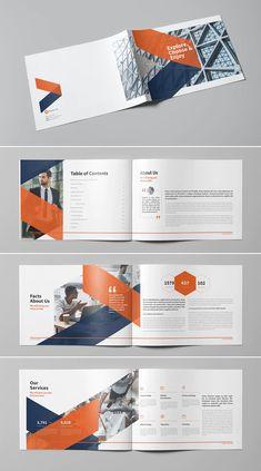Company Brochure Design, Company Profile Design, Brochure Cover Design, Graphic Design Brochure, Booklet Design, Brochure Design Inspiration, Brochure Layout, Graphic Design Templates, Book Design Layout