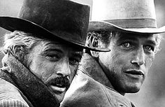 Robert Redford and Paul Newman in Butch Cassidy and the Sundance Kid, 1969.