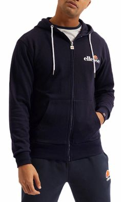 Embroided Logo Lined Hood Plain design Zip Front Long sleeves Ribbed hem and cuffs Cotton Polyester Logo Line, Ellesse, Sports Brands, Hoodies, Sweatshirts, Zip Hoodie, Black Hoodie, Hooded Jacket, Cuffs
