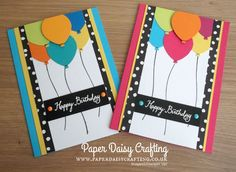 Balloon Celebration and Balloon Bouquet punch from Stampin' Up!