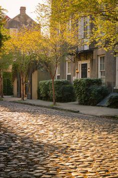 "hueandeyephotography:  "" Cobbleston Street, Charleston, SC  © Doug Hickok More here… hue and eye  """