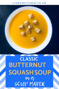 Butternut Squash Soup is one of my favourites. The nutty taste, combined with the sweetness of the squash, feels like the perfect combination for a warming soup. The good news is you can make butternut squash soup in your soup maker really quickly. Gourmet Recipes, Soup Recipes, Vegan Recipes, Cuisinart Soup Maker, Morphy Richards Soup Maker, Squash Vegetable, Butternut Squash Soup, Spinach Salad, Vegane Rezepte