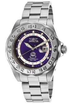 Invicta 15336 Men's Watch Pro Diver Silver Stainless Steel With Blue Dial