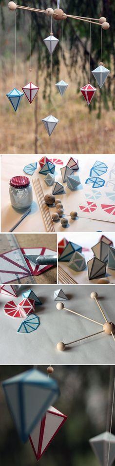 Harakan timanttimobile. lasten | askartelu | joulu | käsityöt | koti | DIY ideas | kid crafts | christmas | home | Pikku Kakkonen