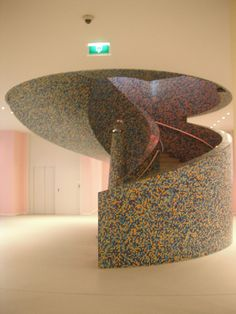Spiral stairs at the Groningen Museum, The Netherlands