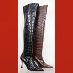 My Ultra Sexy Chic Luxury Stretch Alligator Boots #shoesday #tuesdayshoesday #fallboots #boots #stretchboots #alligator #alligatorboots #luxury #cfda #designer #vanessanoelshoes #style #hashtagfashion #fashion #fashionbloggers #fashionwriters #sexy #couture #designedinamerica #madeinitaly #thighhigh #pullon #louisianaalligator #overthetop #heavenly #divine #sexandthecity