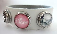Geboorte-armband met hand gemaakte Clicks