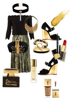 """""""Untitled #309"""" by valeria-coroianu on Polyvore featuring Maison Margiela, Alexander McQueen, Charlotte Olympia, Fairchild Baldwin, E L L E R Y, VSA, Halcyon Days, Chanel, Tom Ford and Dolce&Gabbana"""