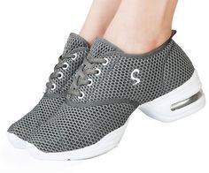 Idealhome Womens Lightweight Mesh Breathable Lace up Dance Sneakers ** Click image to review more details.
