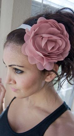 Mauve/Pink Puffy Flower Headband by EyeHeartMe on Etsy #CreateYourJulepColor #JulepColorChallenge