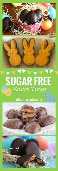 You have got to take a look at these incredible sugar free Easter treats. We can celebrate Easter and stay on track. | ditchthecarbs.com