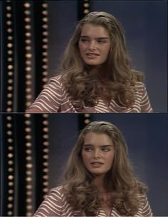 A young Brooke Shields.