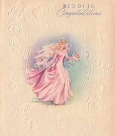 Vintage greeting card Vintage Wedding Cards, Vintage Wedding Invitations, Vintage Bridal, Vintage Holiday, Vintage Cards, 1930s Wedding, Vintage Weddings, Old Greeting Cards, Old Cards