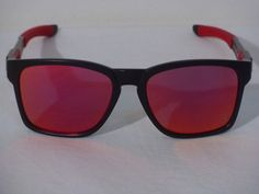 new auth oakley catalyst scuderia ferrari black/ruby iridium sunglasses 9272-07