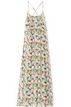 Paul & Joe | Mikaela printed textured silk-chiffon maxi dress | NET-A-PORTER.COM