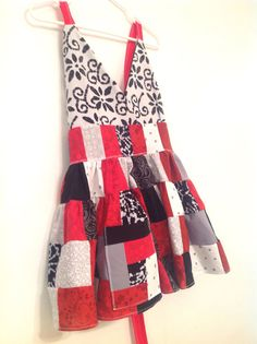 Custom Made Patchwork Hippie Baby Doll Apron Top  by PhreshThreadz, $70.00